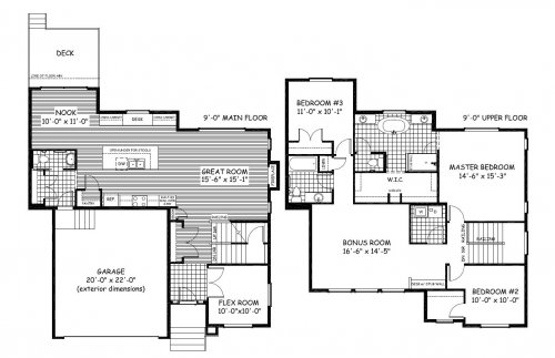 Douglas Homes Show Home Floorplan